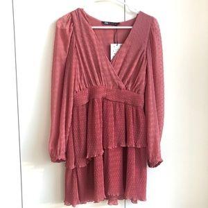 NWT Zara long sleeve dress